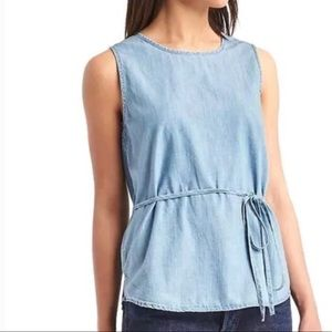 Gap Chambray Wrap Tank